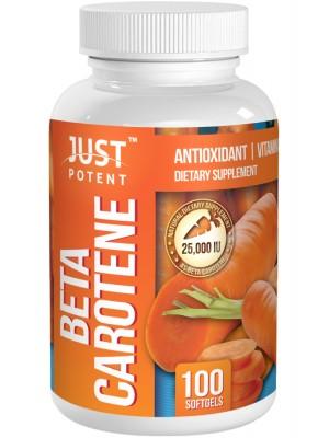 Beta Carotene (Vitamin A) Supplement by Just Potent | Antioxidant | Vitamin A | 25,000 IU
