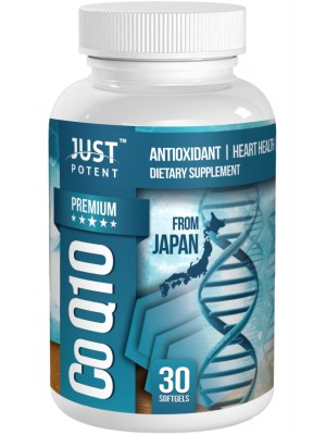 Premium CoQ10 ( Ubiquinone) Supplement by Just Potent | 200mg per Capsule | Antioxidant | Heart Health | Energy