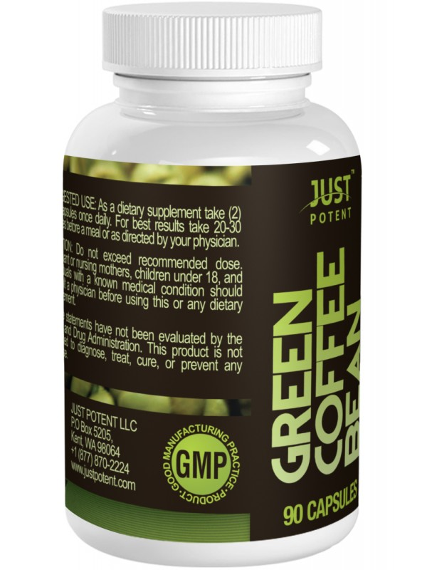 Green Coffee Bean Extract By Just Potent 50 Chlorogenic Acid