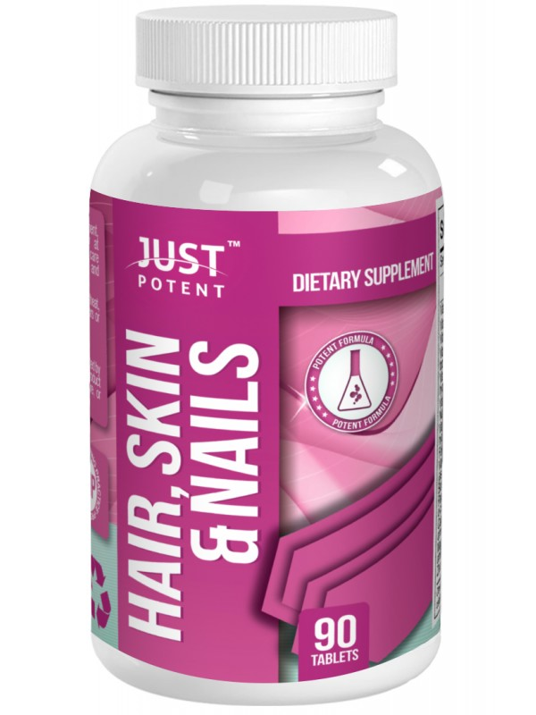 Hair Skin Nails Supplement By Just Potent