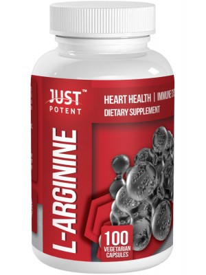 L-Arginine with Vitamin B6 by Just Potent | Free Form L-Arginine | 500mg Per Capsule | Heart Health | Immune System Support