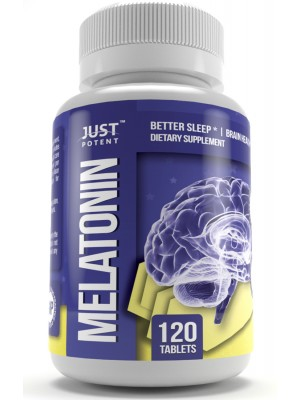 Pharmaceutical Grade Melatonin (5mg) by Just Potent | Better Sleep | Brain Health