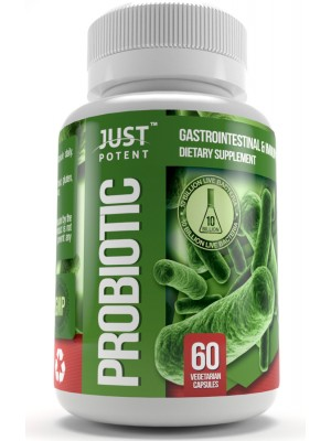 Probiotic Supplement by Just Potent | 10 Billion CFUs | Gastrointestinal & Immune Health