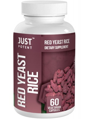 Organic Red Yeast Rice by Just Potent | 600mg Per Capsule