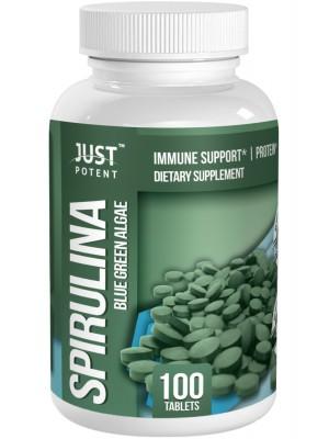 Natural Spirulina ( Blue Green Algae ) by Just Potent | 500mg Per Tablet