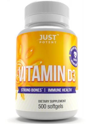 Vitamin D3 Supplement | 500 Softgels | 5,000 IU | Better Mood | Bones & Teeth Health