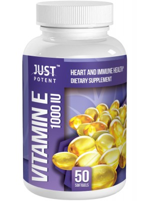 Vitamin E Supplement (100% From Natural Source) by Just Potent | Heart and Immune Health | 1000 IU