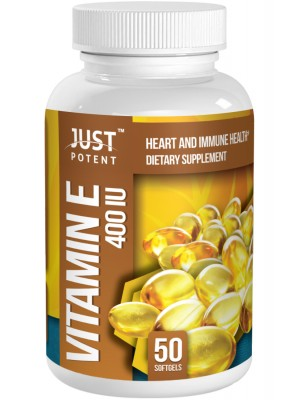 Vitamin E Supplement (100% From Natural Source) by Just Potent | Heart and Immune Health | 400 IU