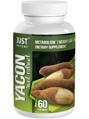Yacon Root Extract by Just Potent | 1200mg per Serving | 60 Capsules